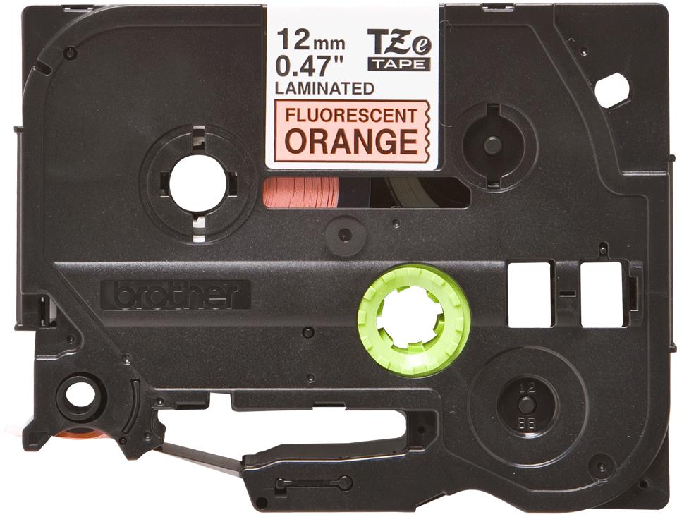 Originální kazeta s páskou Brother TZe-B31 - černý tisk na fluorescenční oranžové, šířka 12 mm 2