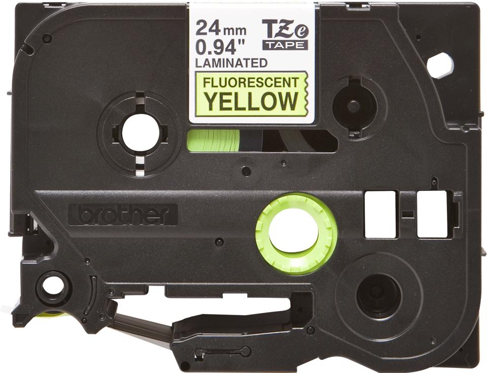 Originální kazeta s páskou Brother TZe-C51 - černý tisk na fluorescenční žluté, šířka 24 mm
