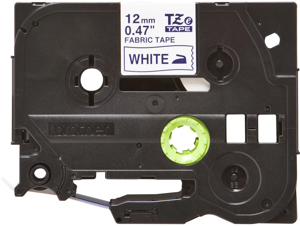 Originální kazeta se zažehlovací páskou Brother TZe-FA3 - modrý tisk na bílé, šířka 12 mm