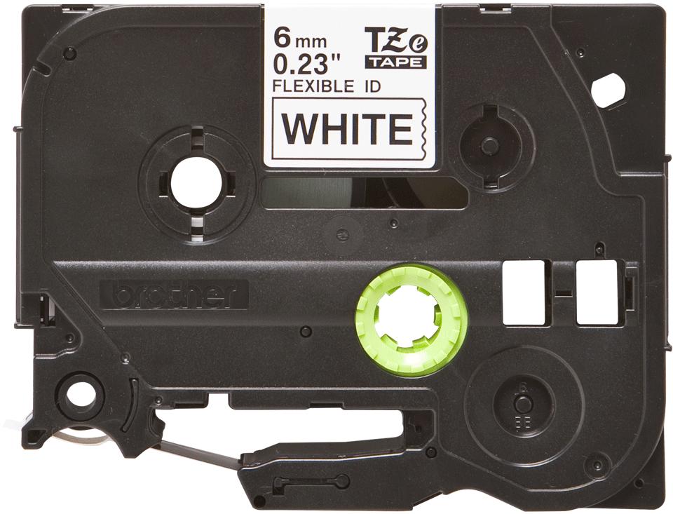 Originální kazeta s páskou Brother TZe-FX211 - černý tisk na bílé, šířka 6 mm