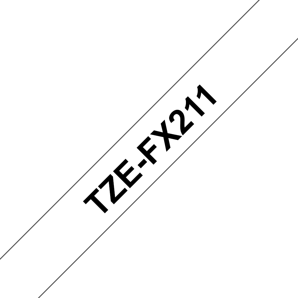 Originální kazeta s páskou Brother TZe-FX211 - černý tisk na bílé, šířka 6 mm 3