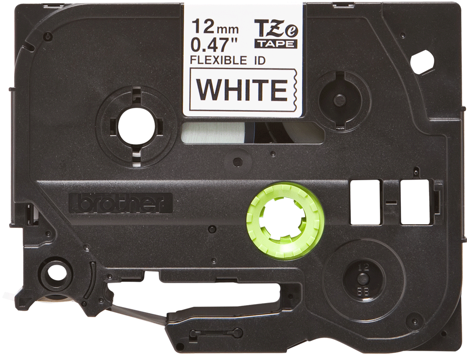 Originální kazeta s páskou Brother TZe-FX231 - černý tisk na bílé, šířka 12 mm