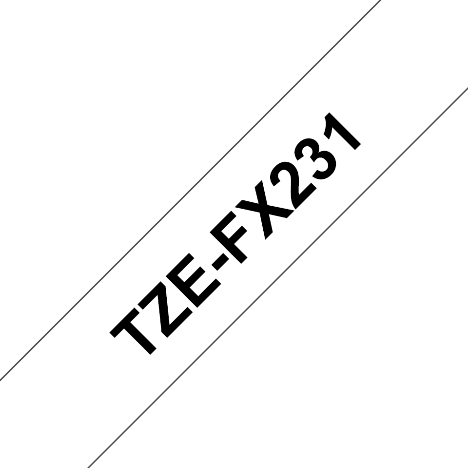 Originální kazeta s páskou Brother TZe-FX231 - černý tisk na bílé, šířka 12 mm 3