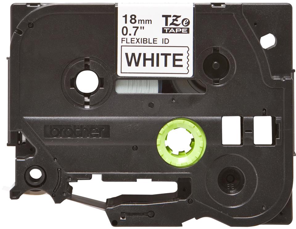 Originální kazeta s páskou Brother TZe-FX241 - černý tisk na bílé, šířka 18 mm