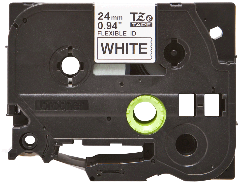 Originální kazeta s páskou Brother TZe-FX251 - černý tisk na bílé, šířka 24 mm
