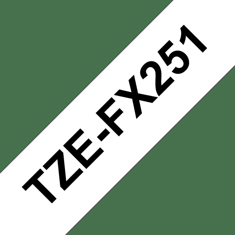 Originální kazeta s páskou Brother TZe-FX251 - černý tisk na bílé, šířka 24 mm 3