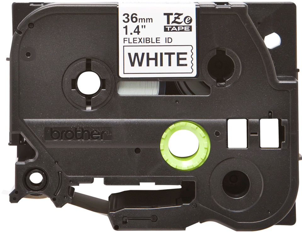 Originální kazeta s páskou Brother TZe-FX261 - černý tisk na bílé, šířka 36 mm