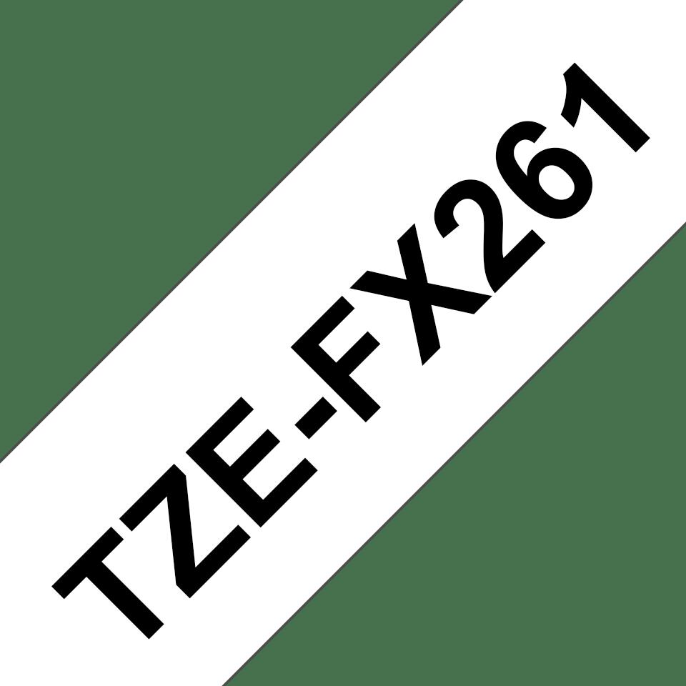 Originální kazeta s páskou Brother TZe-FX261 - černý tisk na bílé, šířka 36 mm 3