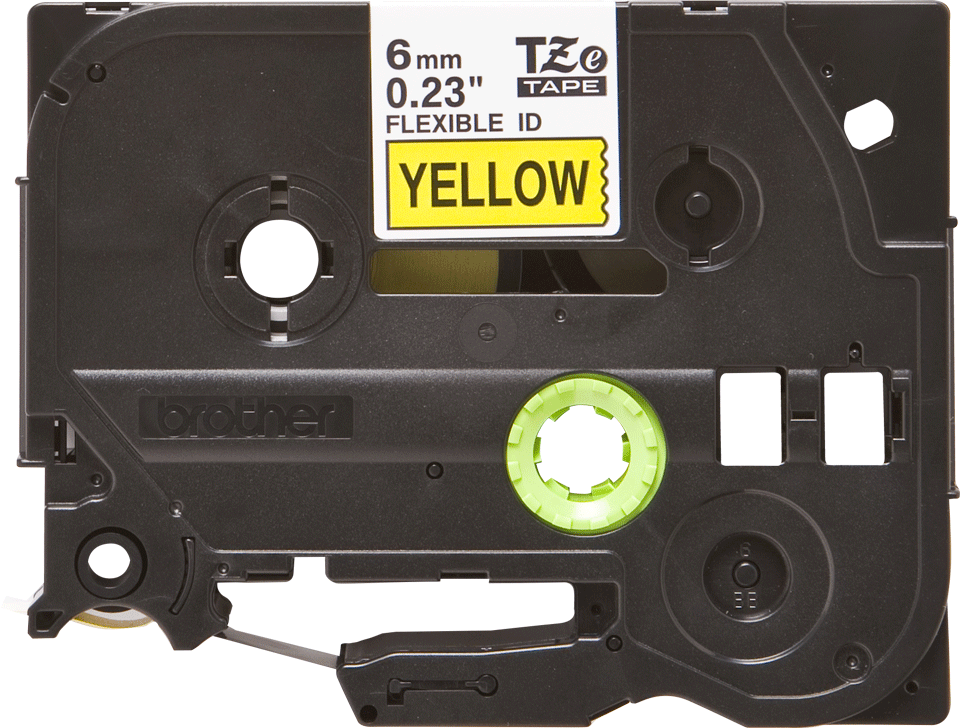 Originální kazeta s páskou Brother TZe-FX611 - černý tisk na žluté, šířka 6 mm