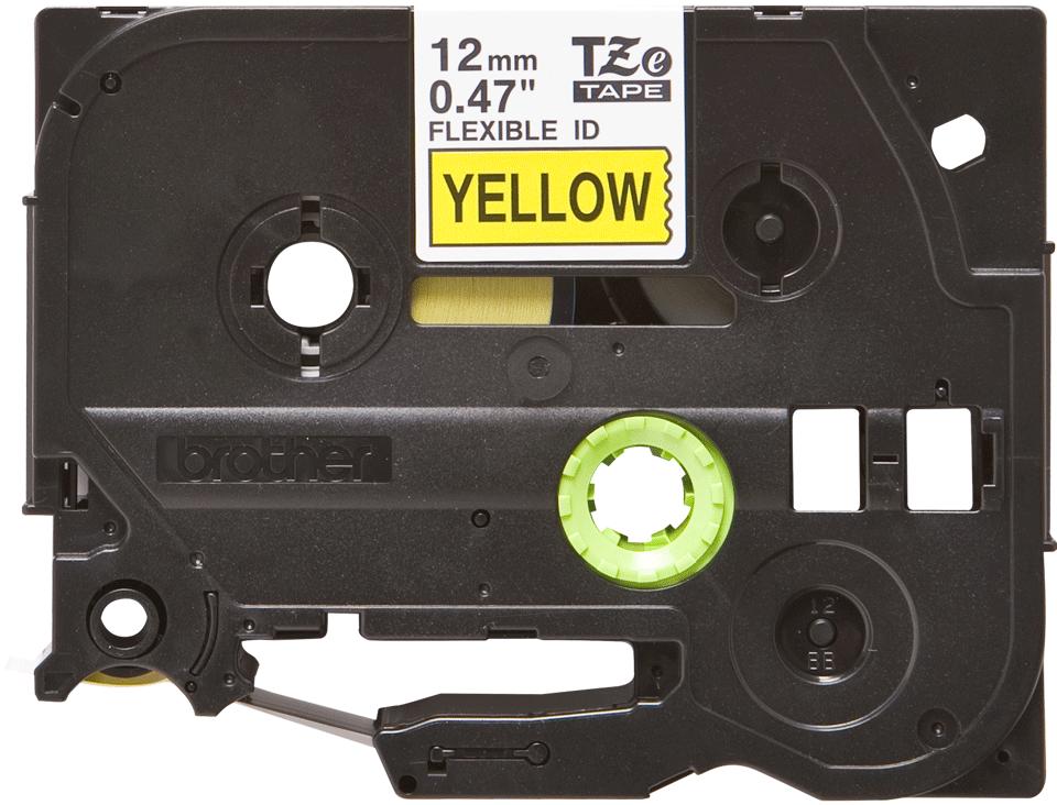 Originální kazeta s páskou Brother TZe-FX631 - černý tisk na žluté, šířka 12 mm