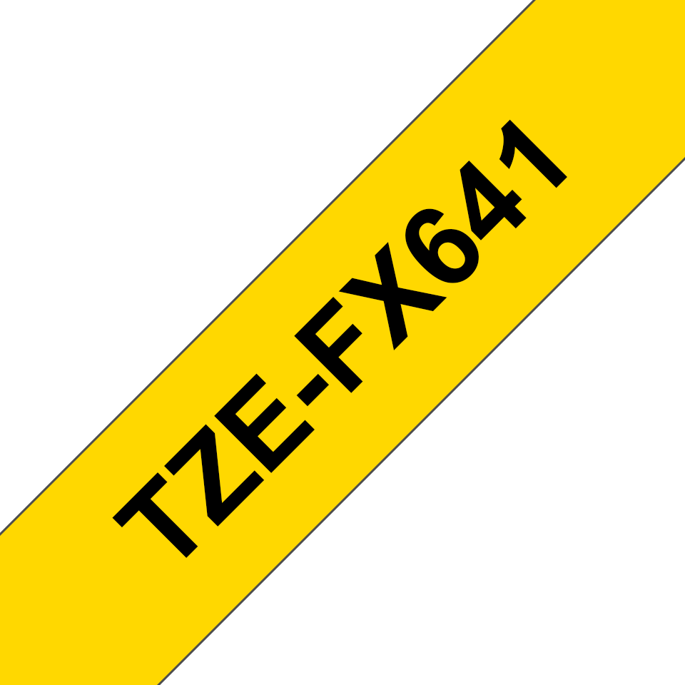 Originální kazeta s páskou Brother TZe-FX641 - černý tisk na žluté, šířka 18 mm 3