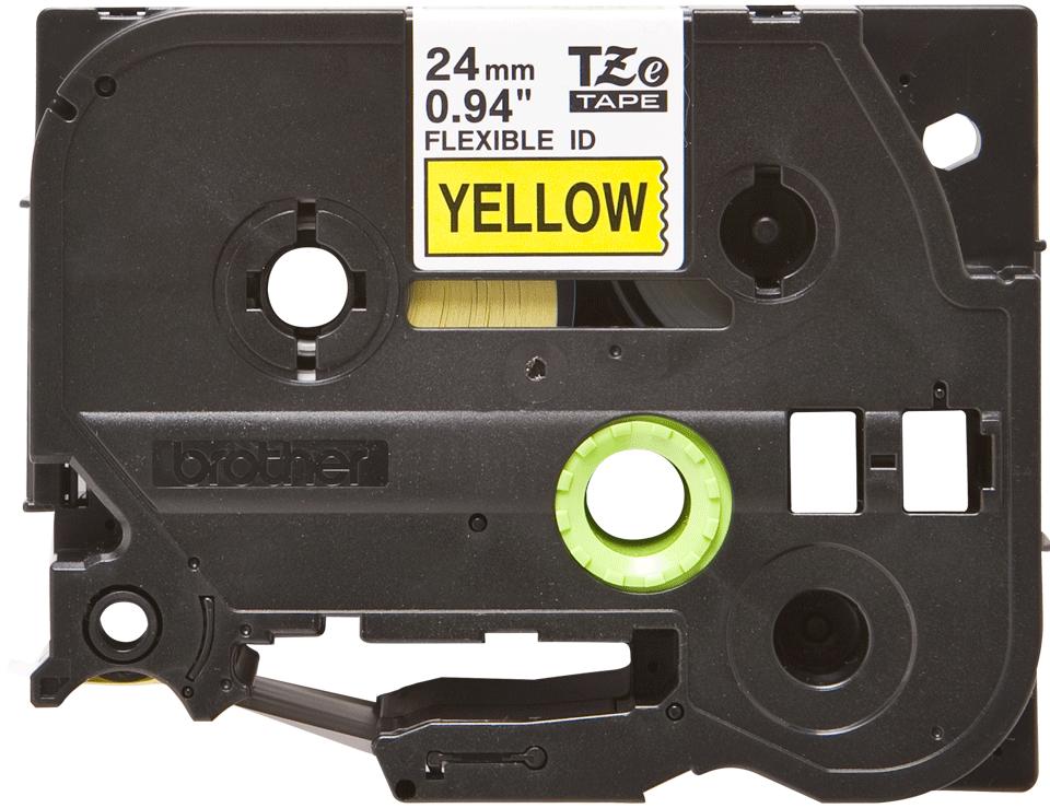 Originální flexibilní ID páska Brother TZe-FX651 - černý tisk na žluté, šířka 24 mm