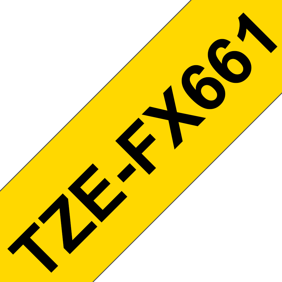 Originální kazeta s páskou Brother TZe-FX661 - černý tisk na žluté, šířka 36 mm 3
