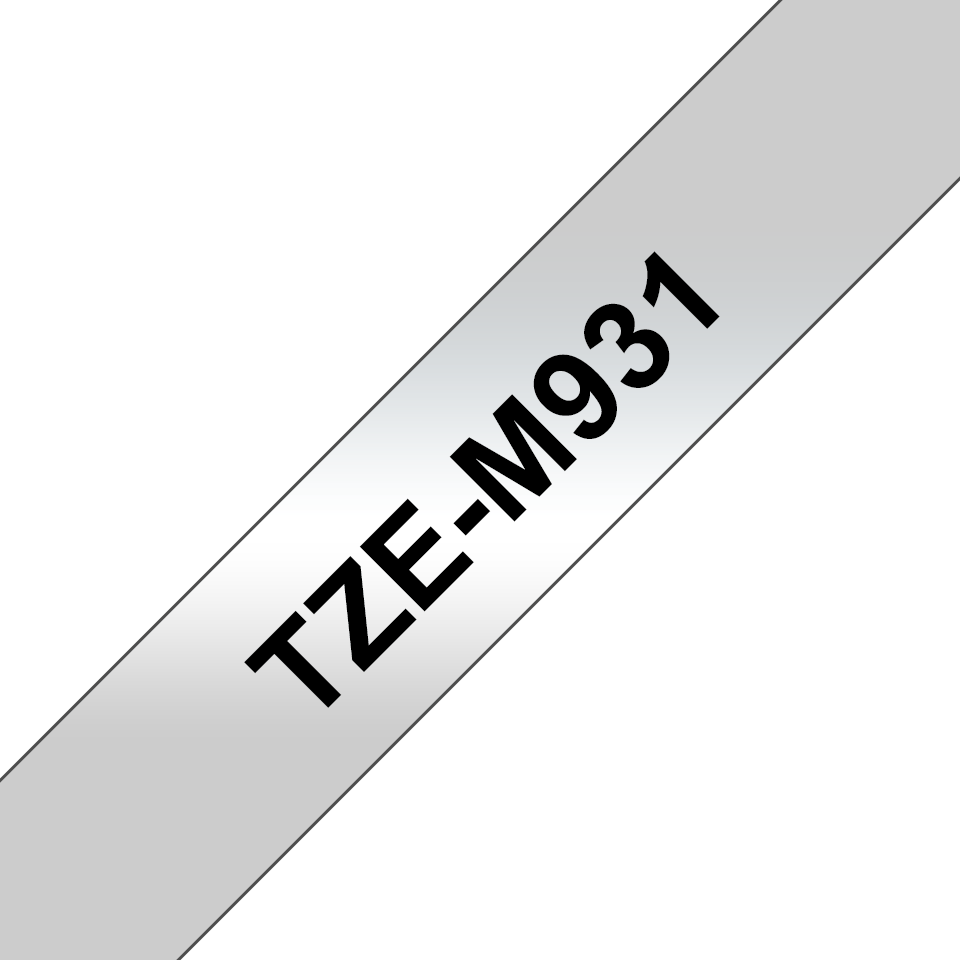 Genuine Brother TZe-M931 Labelling Tape Cassette – Black on Matt Silver, 12mm wide 3