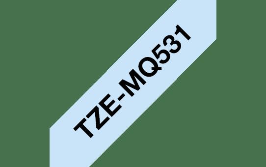 Originální kazeta s páskou Brother TZe-MQ531 - černá na pastelově modré, 12 mm 3