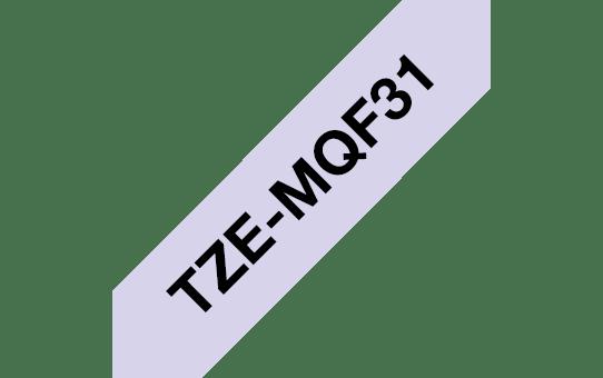 Originální Brother TZe-MQF31 páska černá na pastelově fialové - 12mm 3