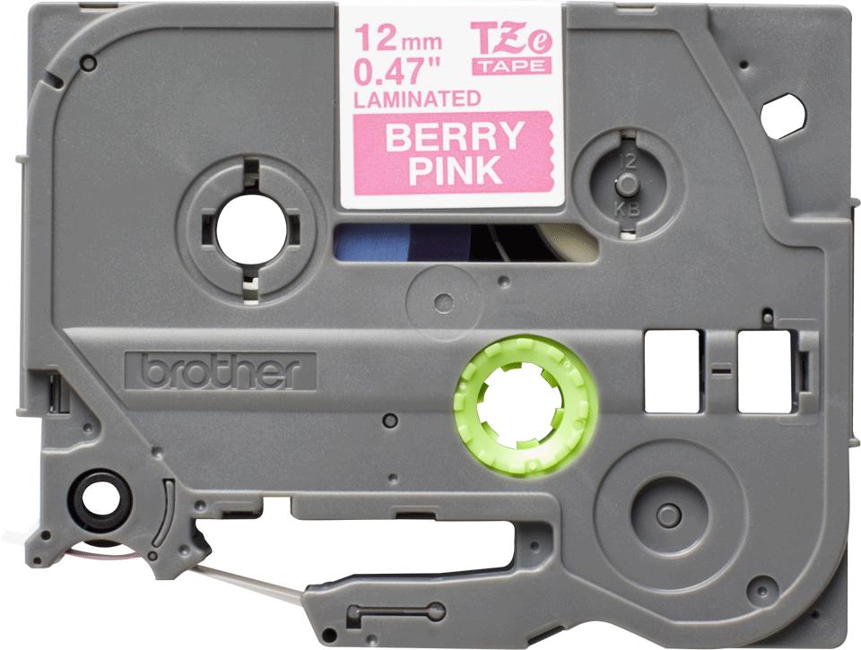 Originální kazeta s páskou Brother TZe-MQP35 - bílý tisk na růžové, šířka 12 mm 2