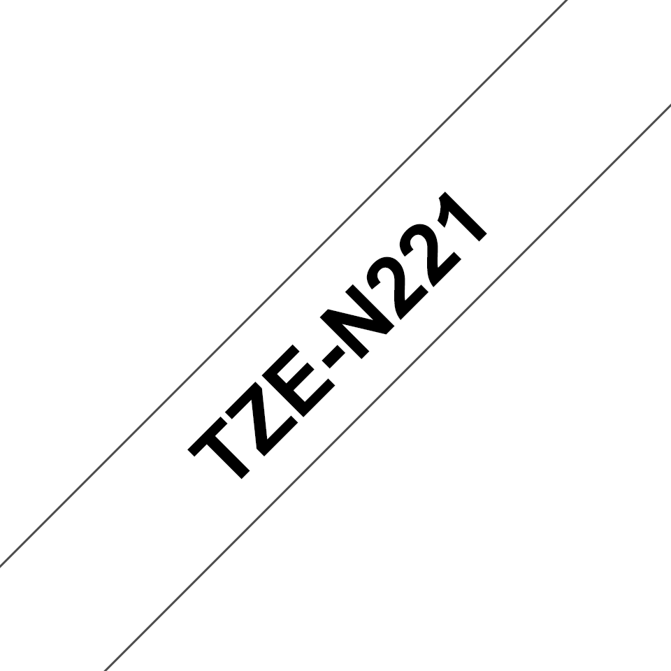 Genuine Brother TZe-N221 Labelling Tape Cassette – Black on White, 9mm wide 3