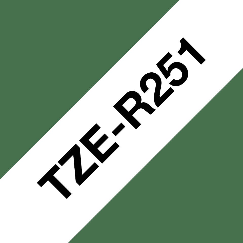 Originální pásková kazeta Brother TZe-R251 - černý tisk na bílé, šířka 24 mm 3