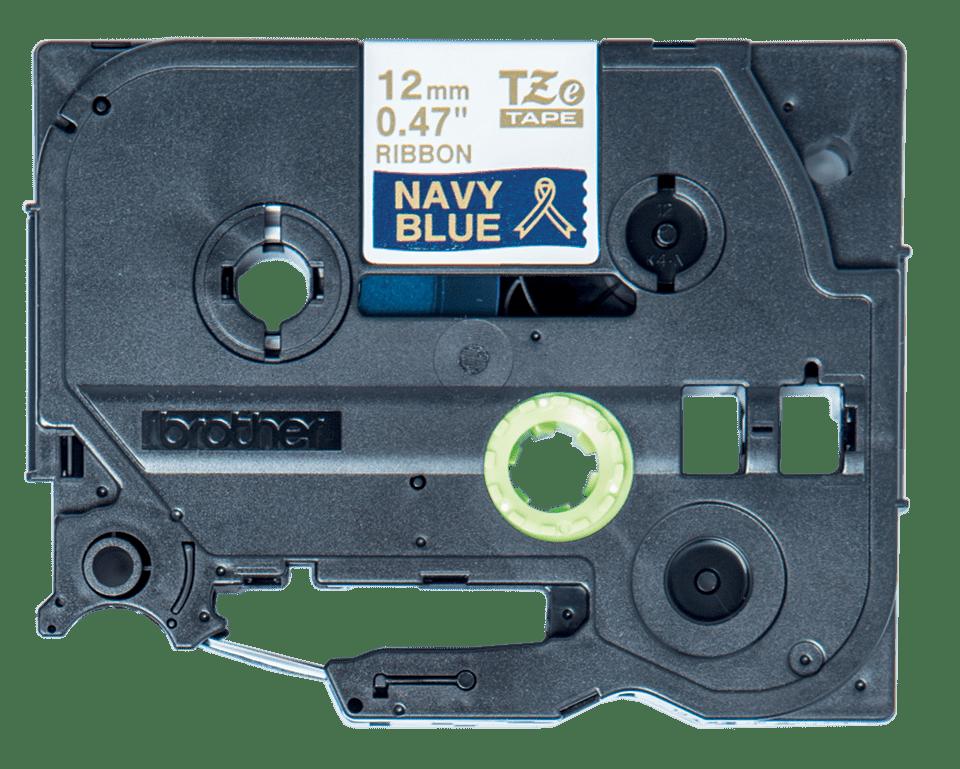 Originální páska TZe-RN34 Brother - zlatá na námořnické modré, šířka 12 mm 3