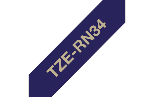 Originální páska TZe-RN34 Brother - zlatá na námořnické modré, šířka 12 mm