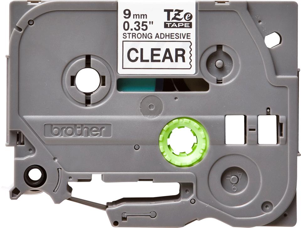 Originální kazeta s páskou Brother TZe-S121 - černý tisk na průsvitné, šířka 9 mm