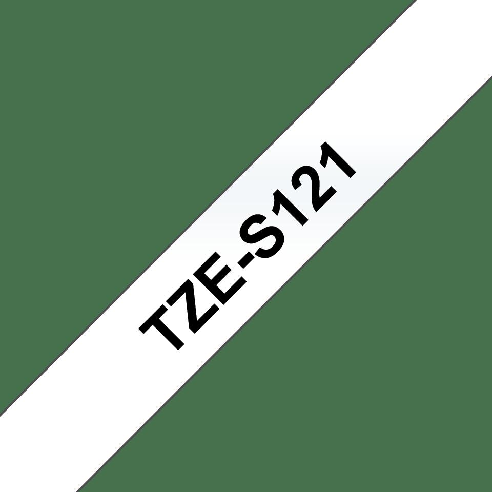 Originální kazeta s páskou Brother TZe-S121 - černý tisk na průsvitné, šířka 9 mm 3