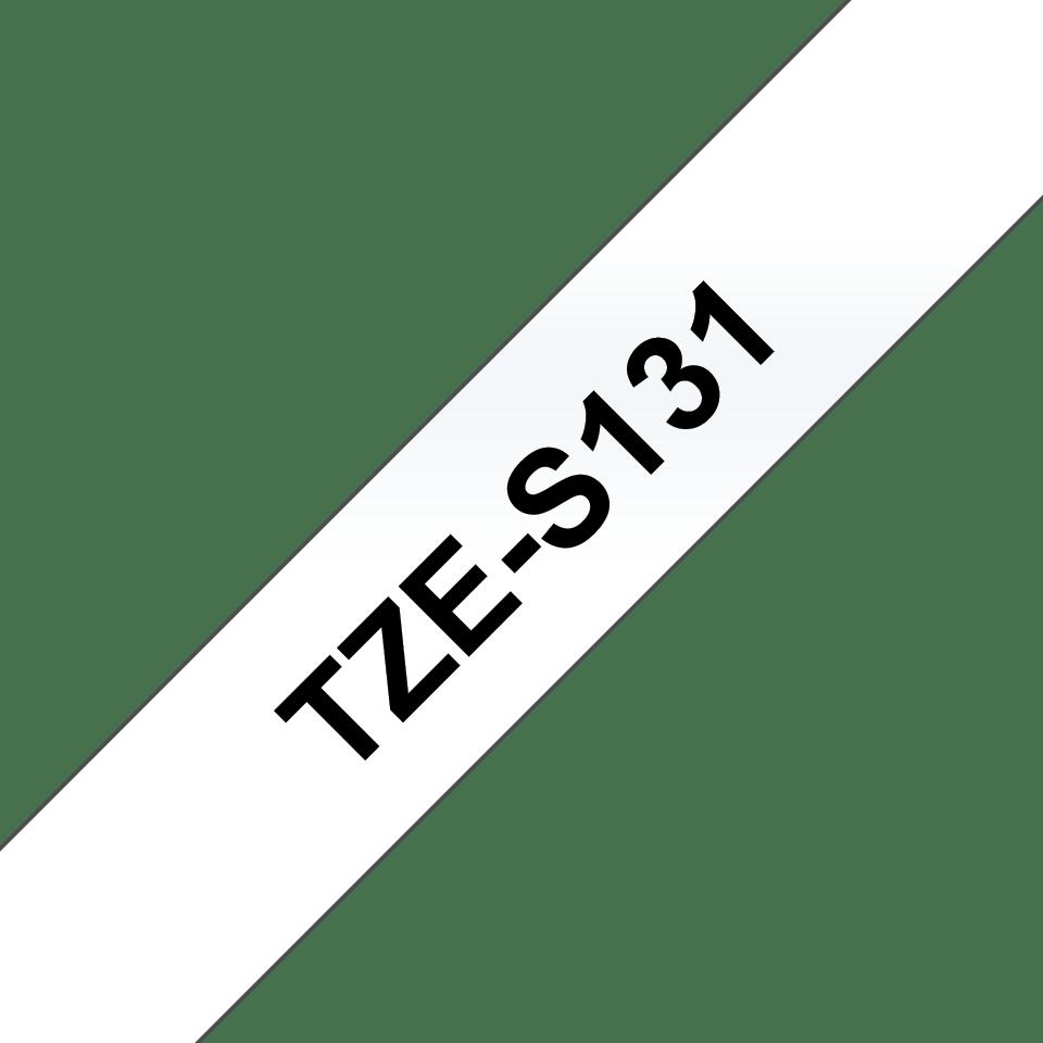 Originální kazeta s páskou Brother TZe-S131 - černý tisk na průsvitné, šířka 12 mm 3