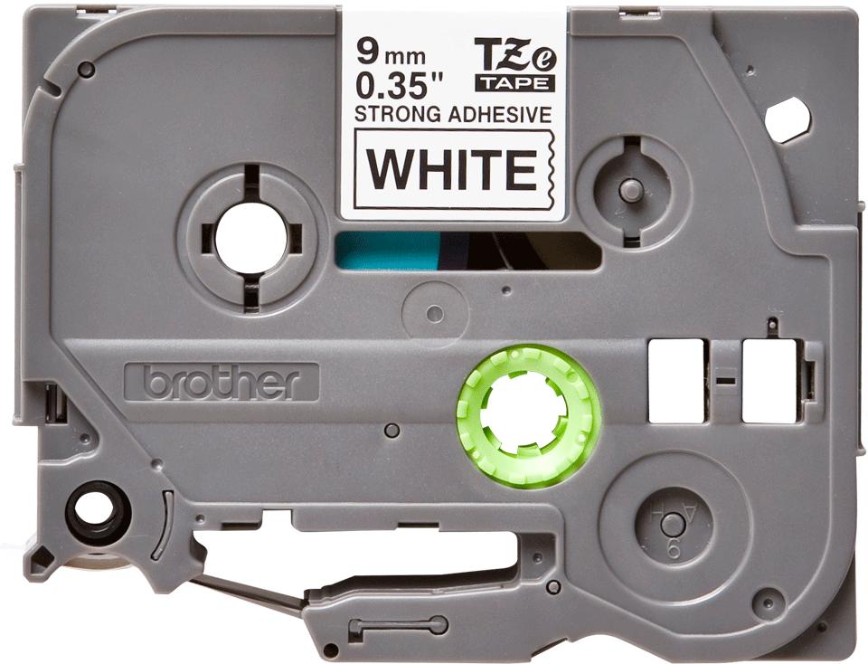 Originální kazeta s páskou Brother TZe-S221 - černý tisk na bílé, šířka 9 mm