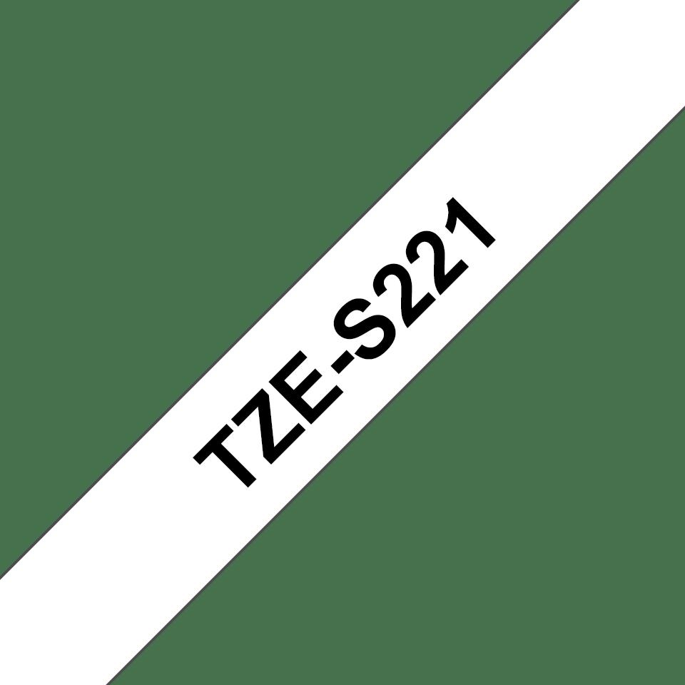 Originální kazeta s páskou Brother TZe-S221 - černý tisk na bílé, šířka 9 mm 3