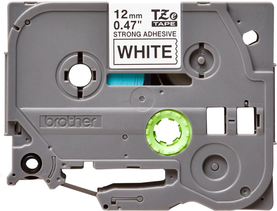 Originální kazeta s páskou Brother TZe-S231 - černý tisk na bílé, šířka 12 mm
