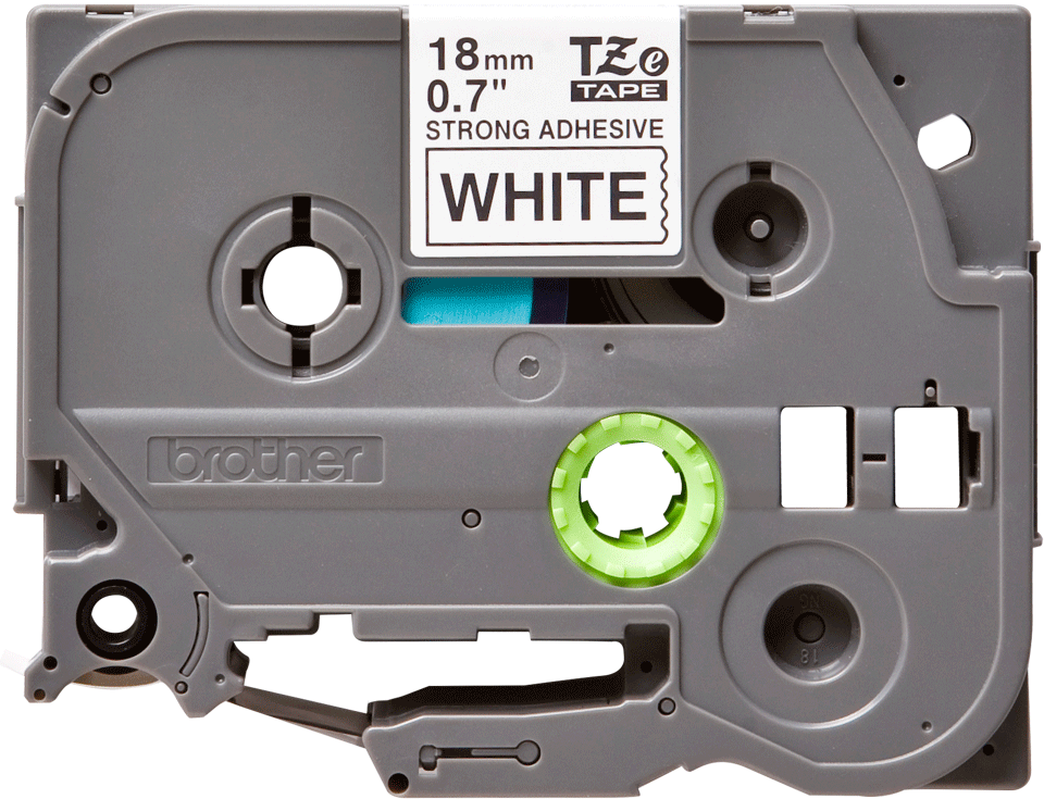 Originální kazeta s páskou Brother TZe-S241 - černý tisk na bílé, šířka 18 mm