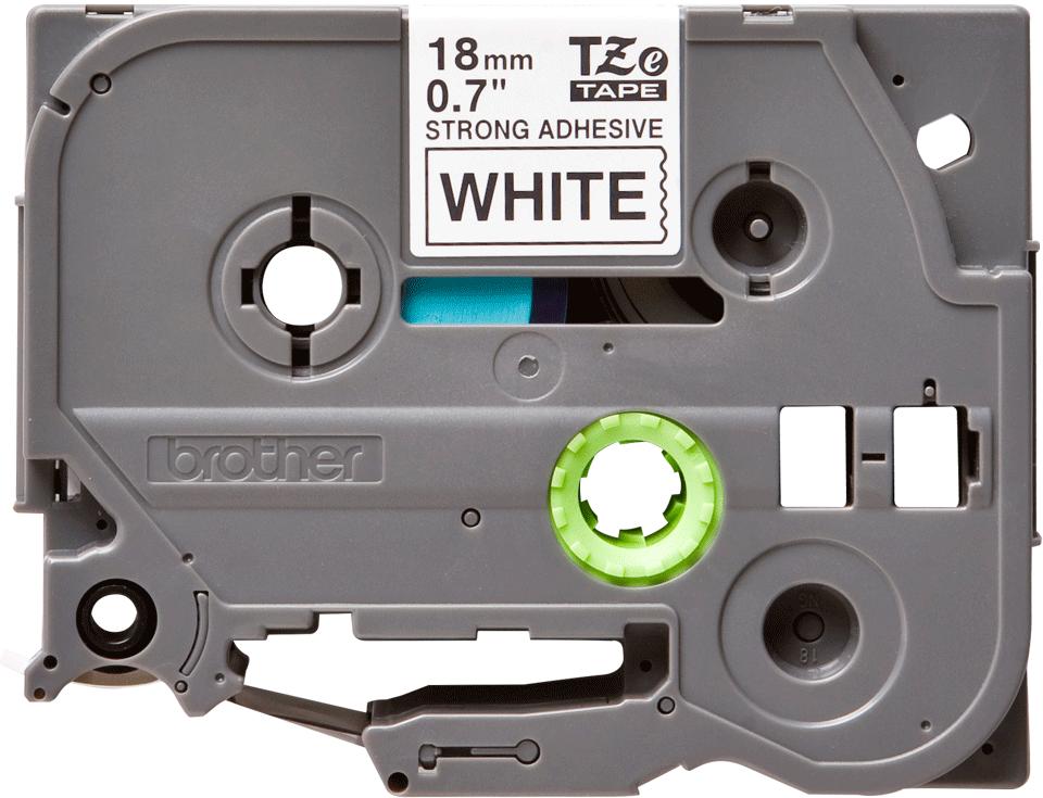 Originální kazeta s páskou Brother TZe-S241 - černý tisk na bílé, šířka 18 mm 2