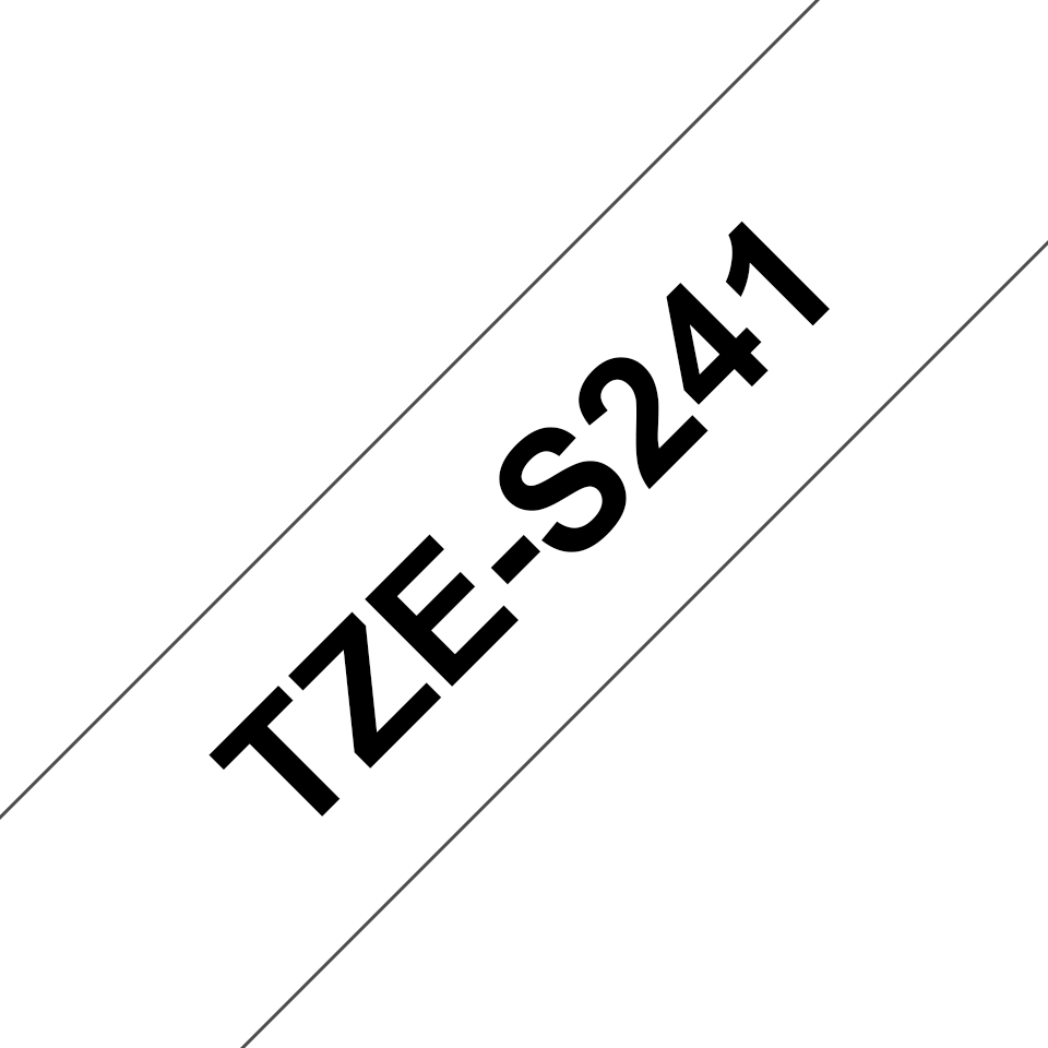 Originální kazeta s páskou Brother TZe-S241 - černý tisk na bílé, šířka 18 mm 3