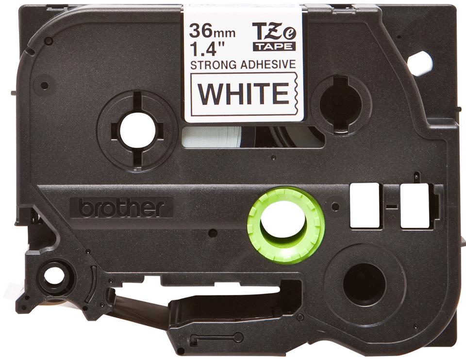 Originální kazeta s páskou Brother TZe-S261 - černý tisk na bílé, šířka 36 mm 2