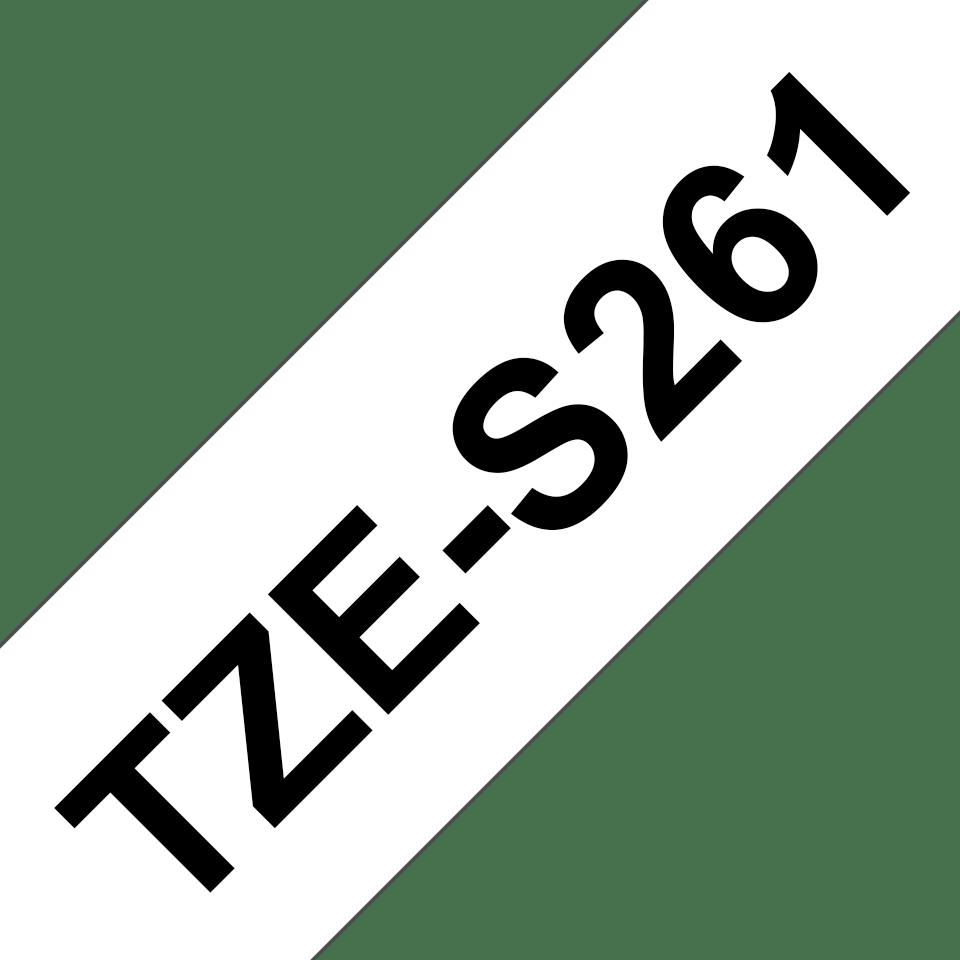 Originální kazeta s páskou Brother TZe-S261 - černý tisk na bílé, šířka 36 mm 3