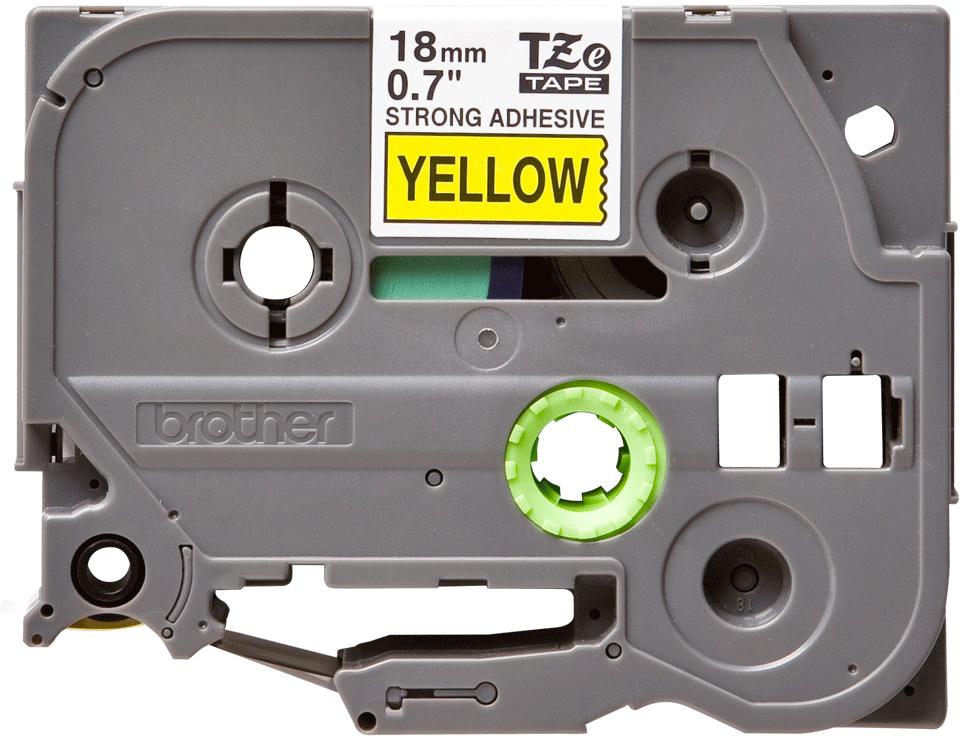 Originální kazeta s páskou Brother TZe-S641 - černý tisk na žluté, šířka 18 mm