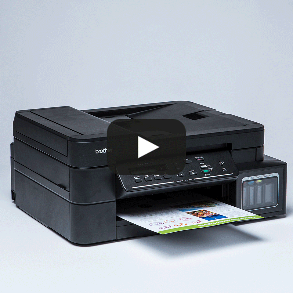 DCP-T710W InkBenefit Plus barevná multifunkční bezdrátová inkoustová tiskárna Brother 8